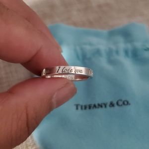 "SALE! Tiffany ""i love you"" Ring"